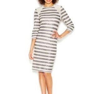 RACHEL Rachel Roy • Striped Sequin Dress
